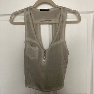 *NEW* Brandy Melville Stone Washed Cropped Tank